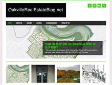 Tablet Preview of oakvillerealestateblog.net